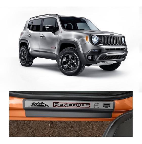 Kit Soleira Jeep Renegade Protetor 4 Portas Premium Escovado
