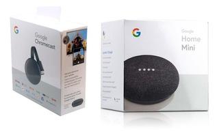Combo Google Chromecast 3era Gen + Google Home Mini Factura