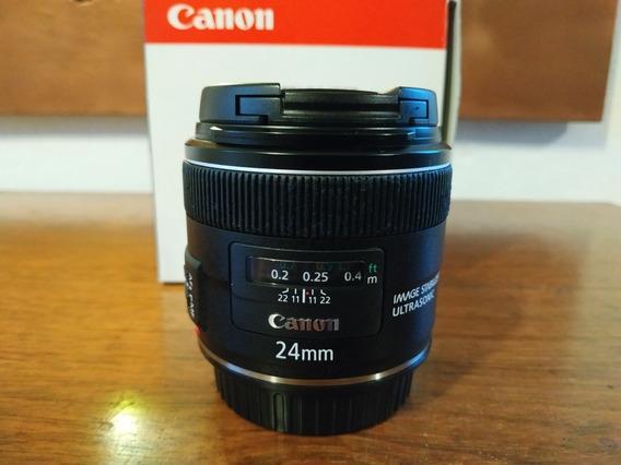 Lente Canon Ef 24mm F2.8 Usm Is(estabilizador) Lente Extra