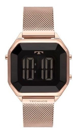 Relógio Technos Crystal Rosê Digital Feminino Bj3851ak/4p