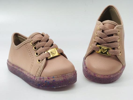 Tênis Infantil Feminino Solado Glitter Molekinha 2118400