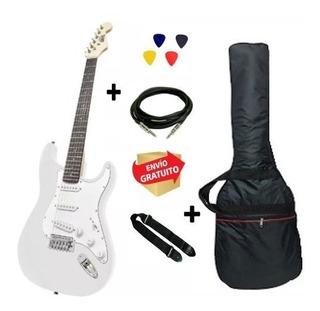 Guitarra Eléctrica Strato Onas Funda Correa Cable Púas Envio