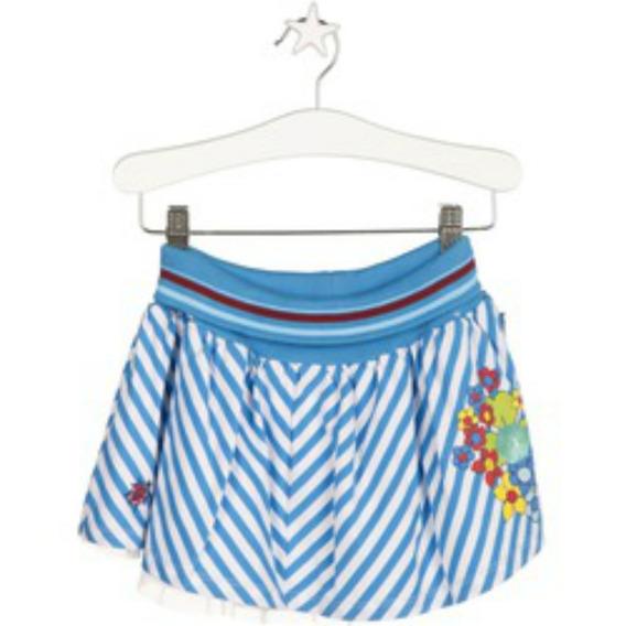 Falda Corta Para Niña Azul Con Resorte