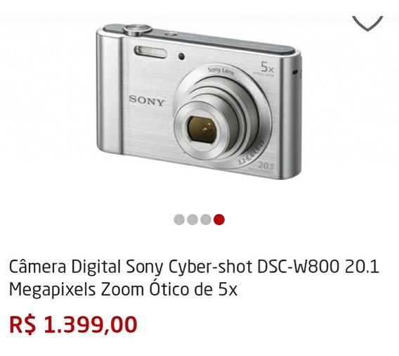 Câmara Digital Sony Ciber Shot Dsc W800 Zoom Otico 5x
