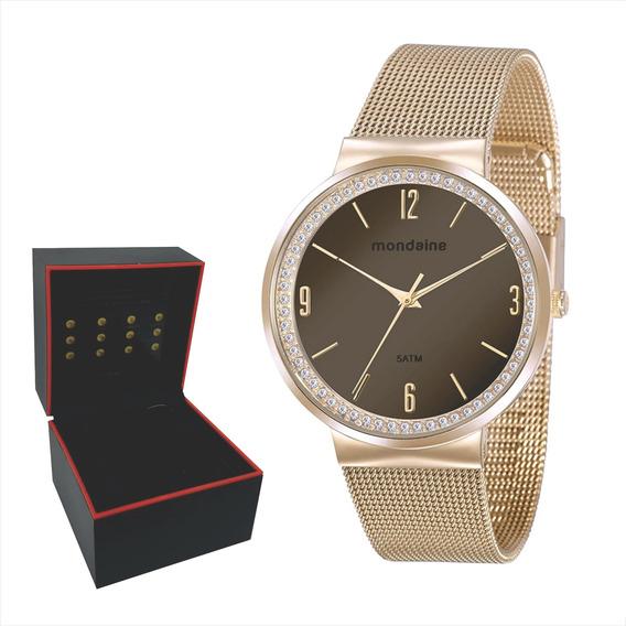 Relógio Mondaine Feminino Dourado Original Envio Imediato