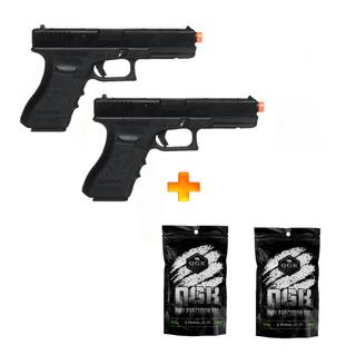2 Pistolas De Airsoft À Gás Gbb G18c Blowback 6mm+ 4000 Bb