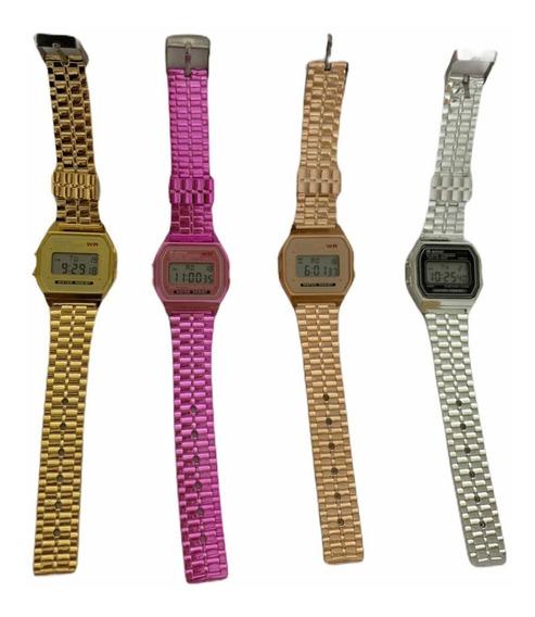 Kit 4 Relógios Femininos + Caixa Acrílico Revenda Barato