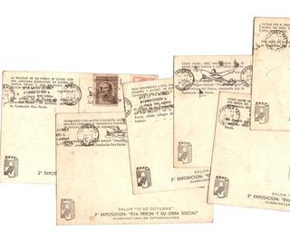 Seis Postales Fundación Eva Peron