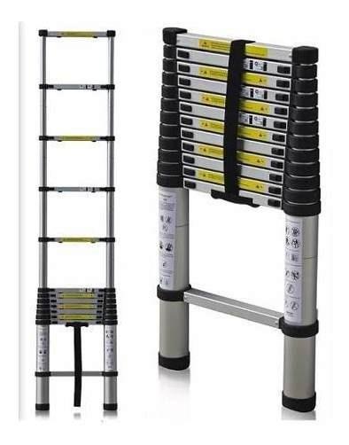 Escalera Aluminio Telescopica Extensible 8 Escalones 2.6 Mts
