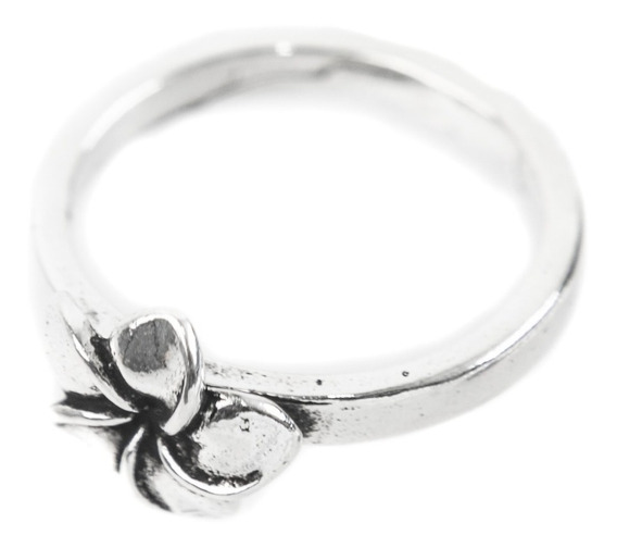 Anel Prata 925 - Delicado Com Flor Envelhecida