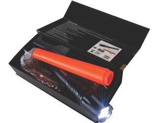 Lanterna 02 Tática Led T6 Ec-2891 Com Baterias Recarregaveis