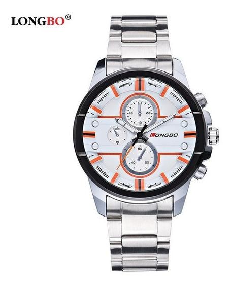 Relógio Masculino Longbo De Luxo Estilo Militar Frete Grátis