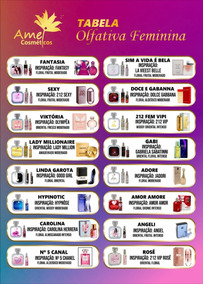 Kit Com 10 Perfumes Amei Cosméticos 17ml - Original
