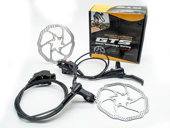 Kit Freio A Disco Hidráulico Gts Ghd100 Bicicleta 160mm