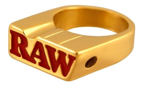 Raw 24k Gold Smoker Ring Tamanho 10