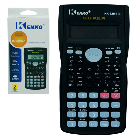 Calculadora Científica Kenko Kk-82ms 240 Funções