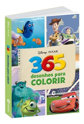 Imagem 1 de 3 de Livro Para Colorir Infantil Com 365 Desenhos Disney Pixar