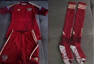 Uniforme Completo Camisa Calção Meião Da Seleção Da Russia
