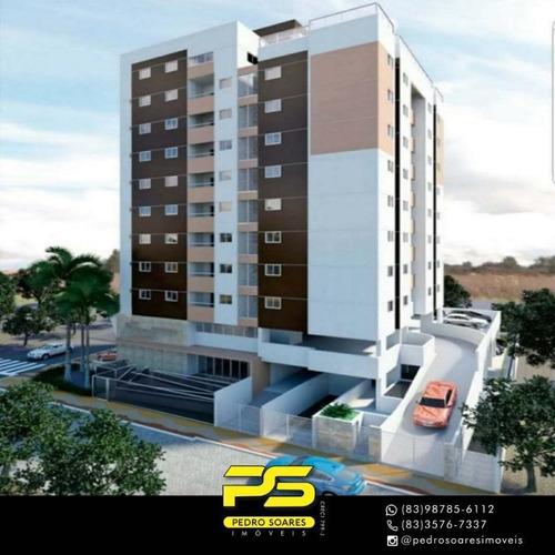 Apartamento Com 3 Dormitórios À Venda, 82 M² Por R$ 389.000 - Manaíra - João Pessoa/pb - Ap3267