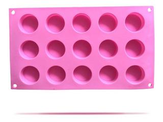 Molde Silicón 15 Cavidades Redondas Para Jabón Y Repostería