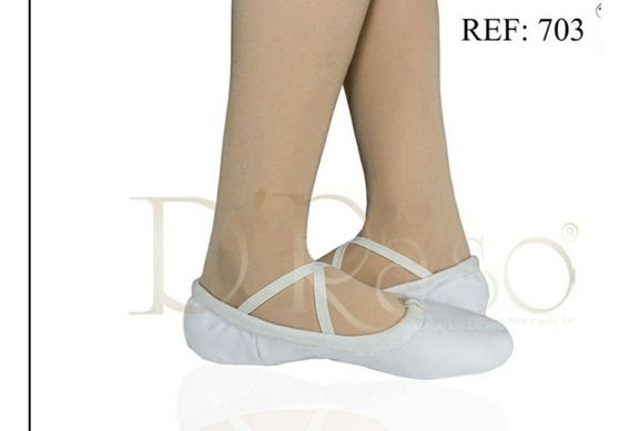 Zapatillas De Media Punta Ballet Cuero Blanco,negro,rosado