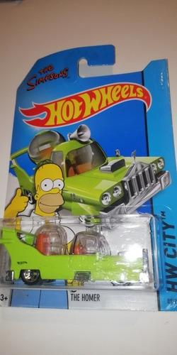Imagen 1 de 5 de The Homer Car The Simpsons Hot Wheels Grapas En Empaque