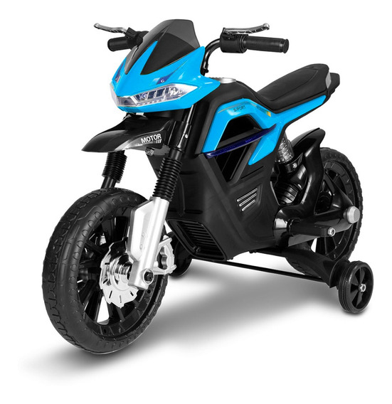 Moto Elétrica Infantil Big Trail Azul Mp3 Usb 6v