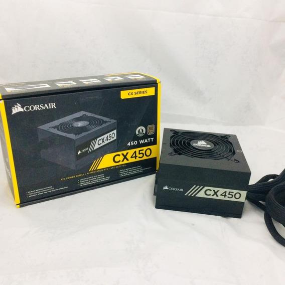 Fonte Corsair Cx450 450watts Pc Gamer 80 Plus 400w Real
