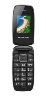 Celular Multilaser Flip Up Preto P9022 Dual Chip Full