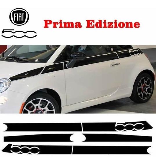 Faixa Fiat 500 Modelo Prima Black Piano E Selo Iso 9001