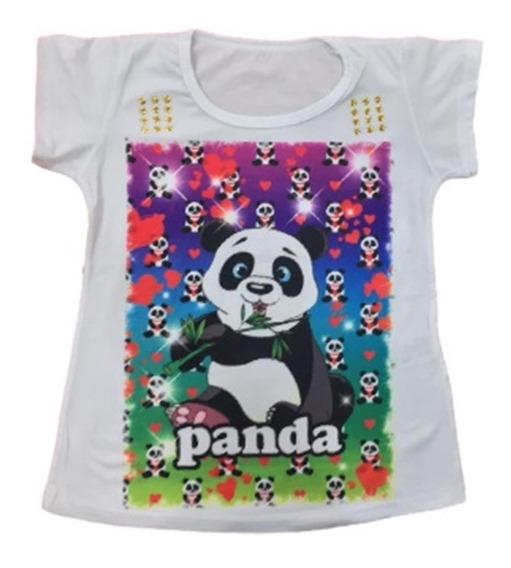 10 Camiseta Blusa Infantil Feminina Menina Sortidas Atacado