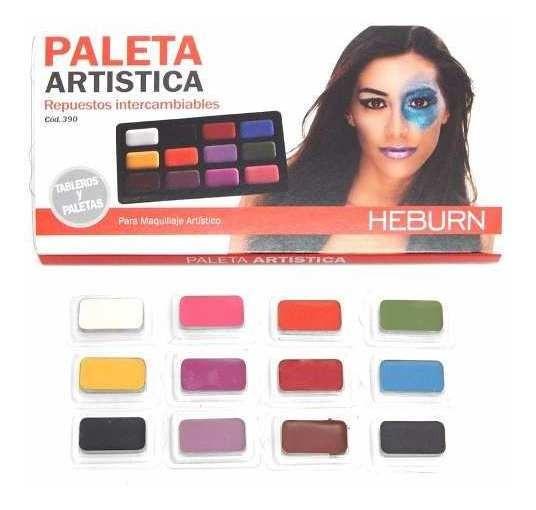 Heburn Profesional Set Maquillaje Paleta Artistica Cod 390