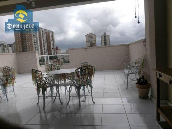 Cobertura Com 3 Dormitórios À Venda, 160 M² Por R$ 819.000,00 - Campestre - Santo André/sp - Co1436
