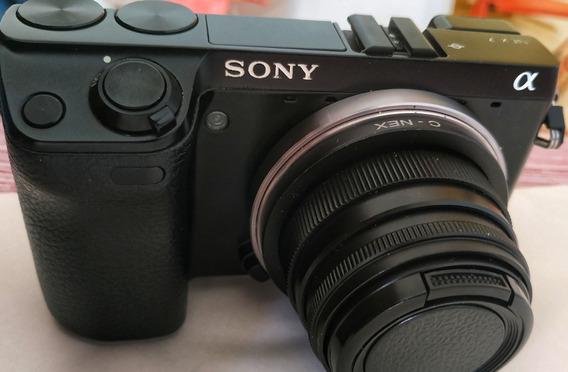 Câmera Sony Nex-7 Mirrorless 24mp Lente 35-mm Excelente