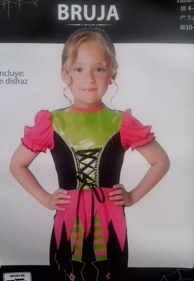 Disfraz De Brujita Bruja Dia Muertos Hlloween Niña Talla 4-6
