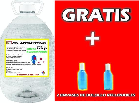 Gel Antibacterial Alcohol 70% Oferta!!!! 4 Kgs