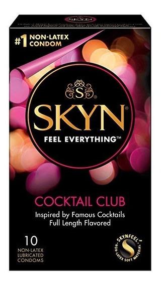 Condones Skyn Cocktail Club De Sabor 10 Pza Libres De Latex