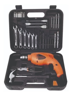 Taladro Percutor 10mm Black & Decker + 41 Accesorios Hd455k