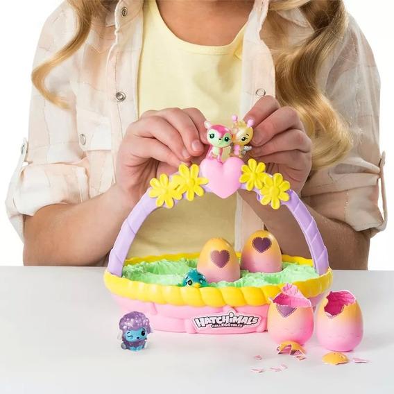 Cestinha E Mini Figuras Surpresa - Hatchimals Colleggtibles