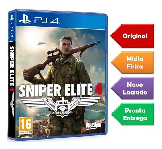 Sniper Elite 4 Ps4 Mídia Física Lacrado Pronta Entrega Novo