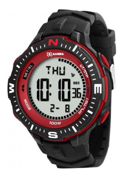 Relógio Digital Xgames Preto Vermelho Borracha Xmppd346 Bxpx