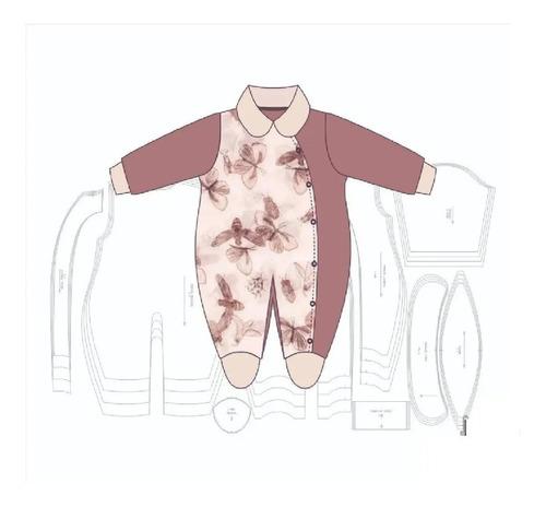 Molde Digital De Macacão Feminino Aberto Na Lateral Bebê