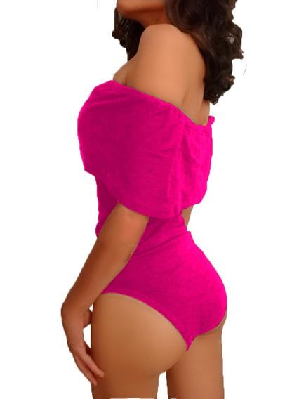 Blusa Body Dama Campesino Al Hombro
