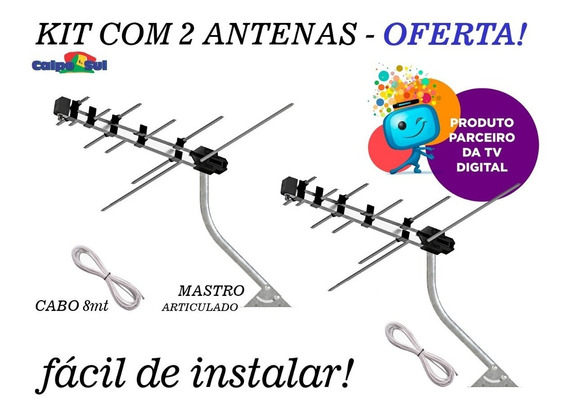 2 Antenas Externa Compacta Digital Prohd-3630/01