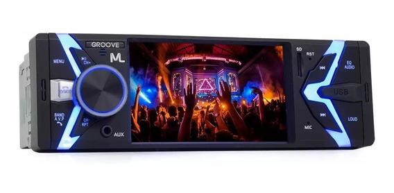 Som Automotivo Groove 1 Din Bluetooth Mp5 Fm Usb P3341