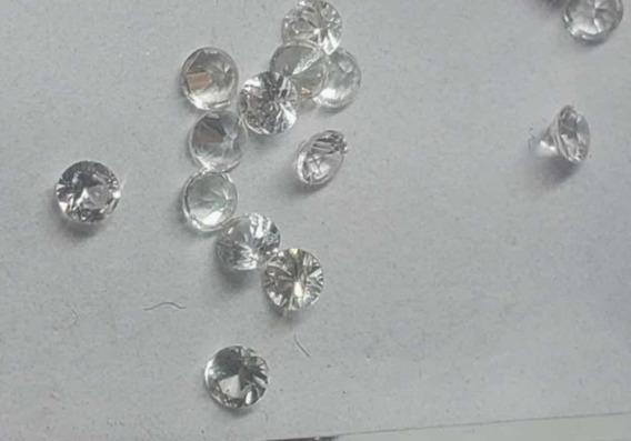 Lote 30 Safiras Brancas Naturais 2mm