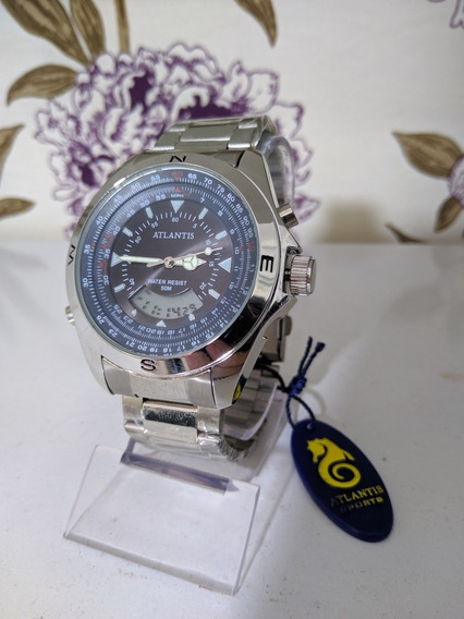Relógio Masculino Atlantis Digital E Analógico