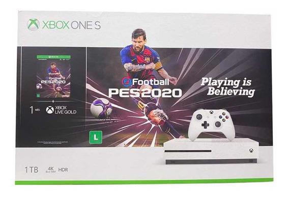 Xbox One S 1tb Lacrado + Pes 20 Nacional + Pronta Entrega