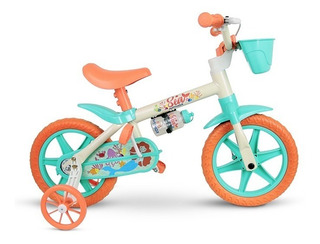 Bicicletinha Infantil Nathor Bike Feminina Aro12 Sea Flower