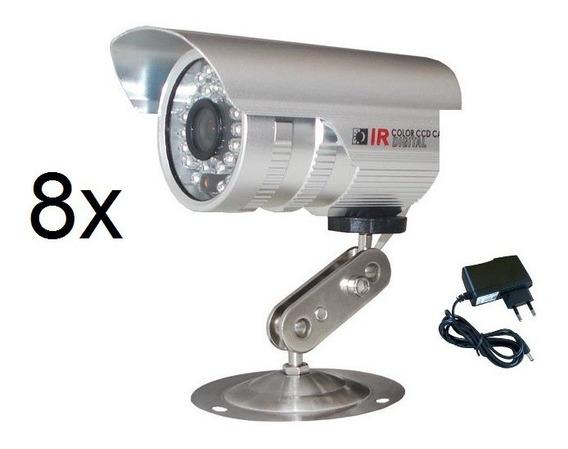 8 Câmeras Segurança Analogica 36 Leds Cftv Infra Prova Água